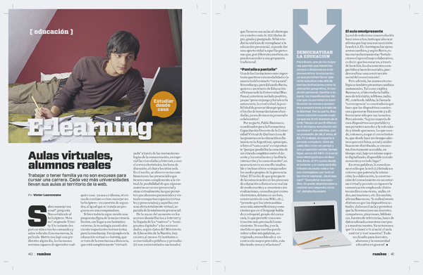 Revista Rumbos: E-Learning. Aulas Virtuales, alumnos reales